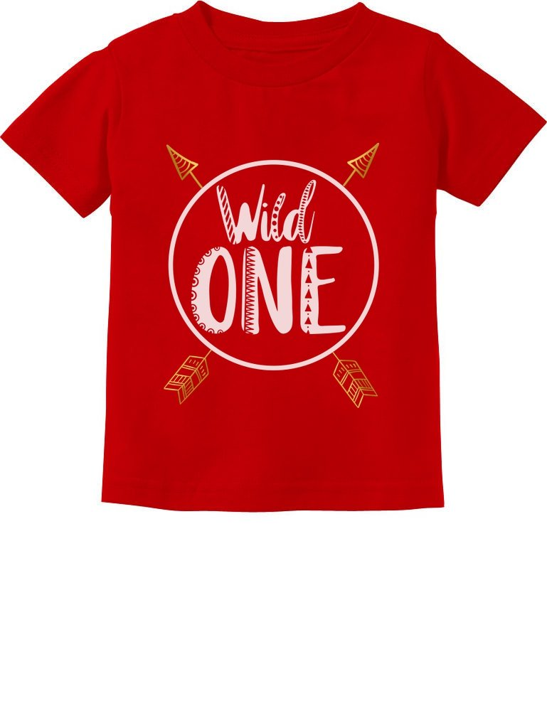 Wild One Baby Boys Girls 1st Birthday Gifts One Year Old Infant Kids T-Shirt 18M Red