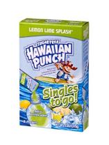 Hawaiian Punch Singles To Go Powder Sticks, Water Drink Mix, Lemon Lime Splash, 96 Single Servings,0.87 Oz,Pack of 12 - ORIGINAL FLAVOR