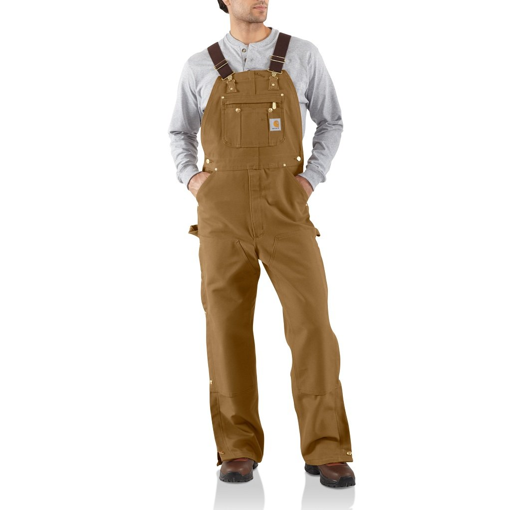 Carhartt Men's R37 Duck Zip-to-Thigh Bib Overall - Unlined