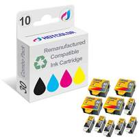 HOTCOLOR 30XL Replacement Ink Cartridge for Kodak 30 Series 6 Black 4 Color Ink Cartridge - 10 Pack Kodak 30B 30C