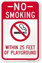 "SmartSign ""No Smoking Within 25 Feet of Playground"" Sign 