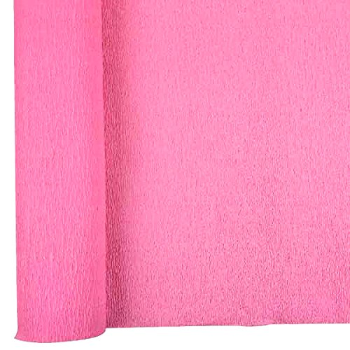 Just Artifacts Premium Crepe Paper Roll - 8ft Length/20in Width (Color: Bubblegum Pink)