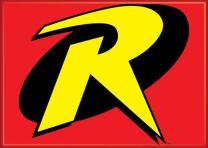 "Ata-Boy DC Comics Robin Logo 2.5"" x 3.5"" Magnet for Refrigerators and Lockers"