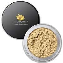 Mudflower Cosmetics Organic Powder Makeup Foundation, Light, 1.0 ounce
