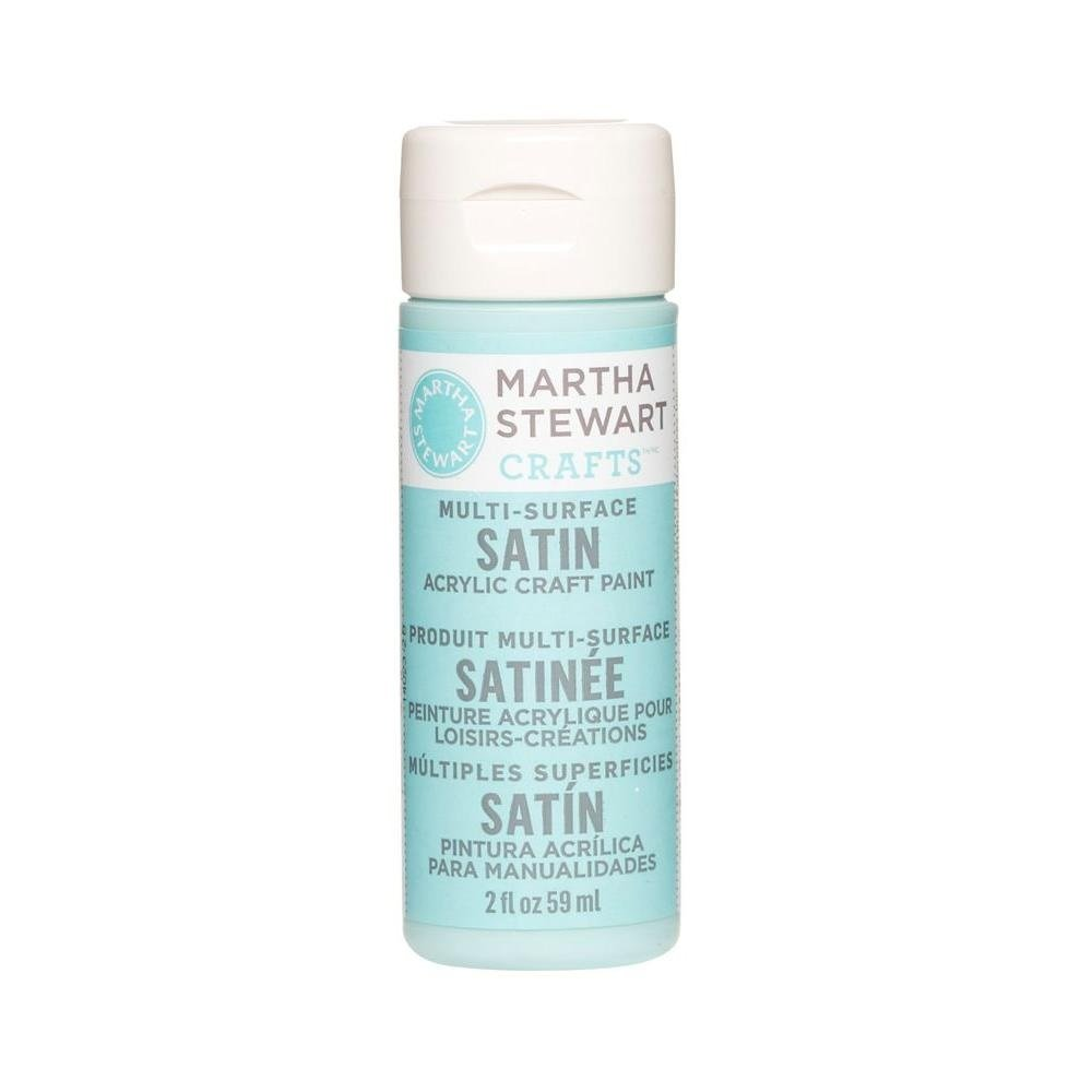 Martha Stewart Crafts Multi-Surface Satin Acrylic Craft Paint in Assorted Colors (2-Ounce), 32016 Surf