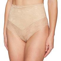 Amazon Brand - Arabella Women's Microfiber and Lace Smoothing Shapewear V Short