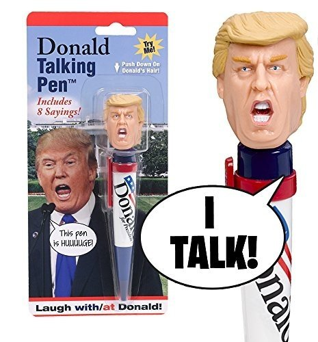 Donald Talking Pen, 8 Different Sayings, Trump's Real Voice, Just Click And Listen, Funny Gifts For Trump and Hillary Fans
