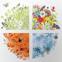 Diamond Painting Kits for Adults Kids, 5D DIY Flowers Diamond Art Accessories with Round Full Drill for Home Wall Decor - 11.8×11.8Inches