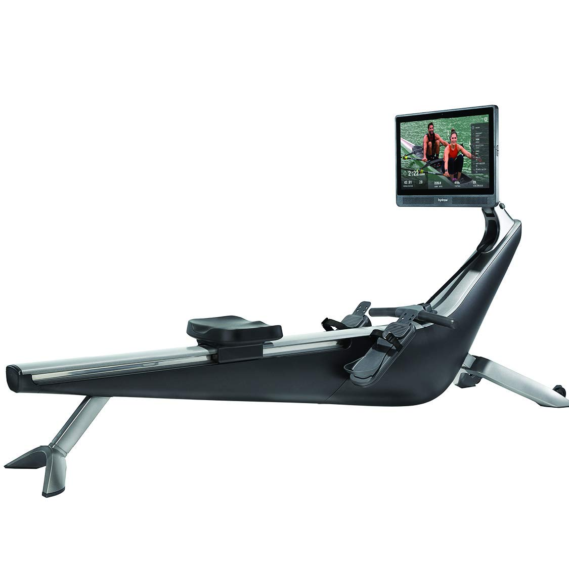 Hydrow Live Outdoor Reality At Home Connected Rowing Machine - Exercise Equipment - Full Body Workout - Live & On-Demand Classes - Subscription Required