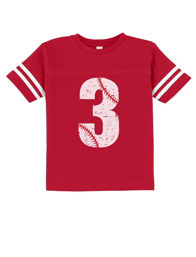 TeeStars - Baseball 3rd Birthday Gift for Three Year Old Toddler Jersey T-Shirt