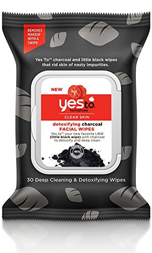 Yes to Tomatoes Clear Skin Detoxifying Charcoal Facial Wipes, 30 Count (Pack of 3)
