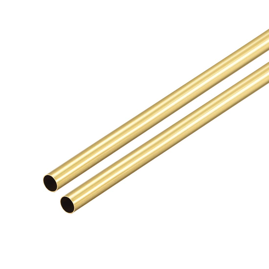 uxcell Brass Round Tube, 300mm Length 5mm OD 0.2mm Wall Thickness, Seamless Straight Pipe Tubing 2 Pcs
