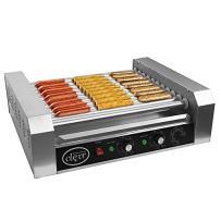 Clevr Commercial Hotdog Roller Machine 11 Roller and 30 Hot Dog Grill Cooker Warmer