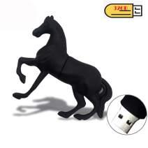 EASTBULL Novelty Flash Drive 32GB Memory Stick Cute USB Thumb Drive Pen Drive Cartoon Horse Shape (1PCS)