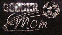 Soccer Mom Iron On Rhinestone Crystal T-Shirt Transfer by JCS Rhinestones