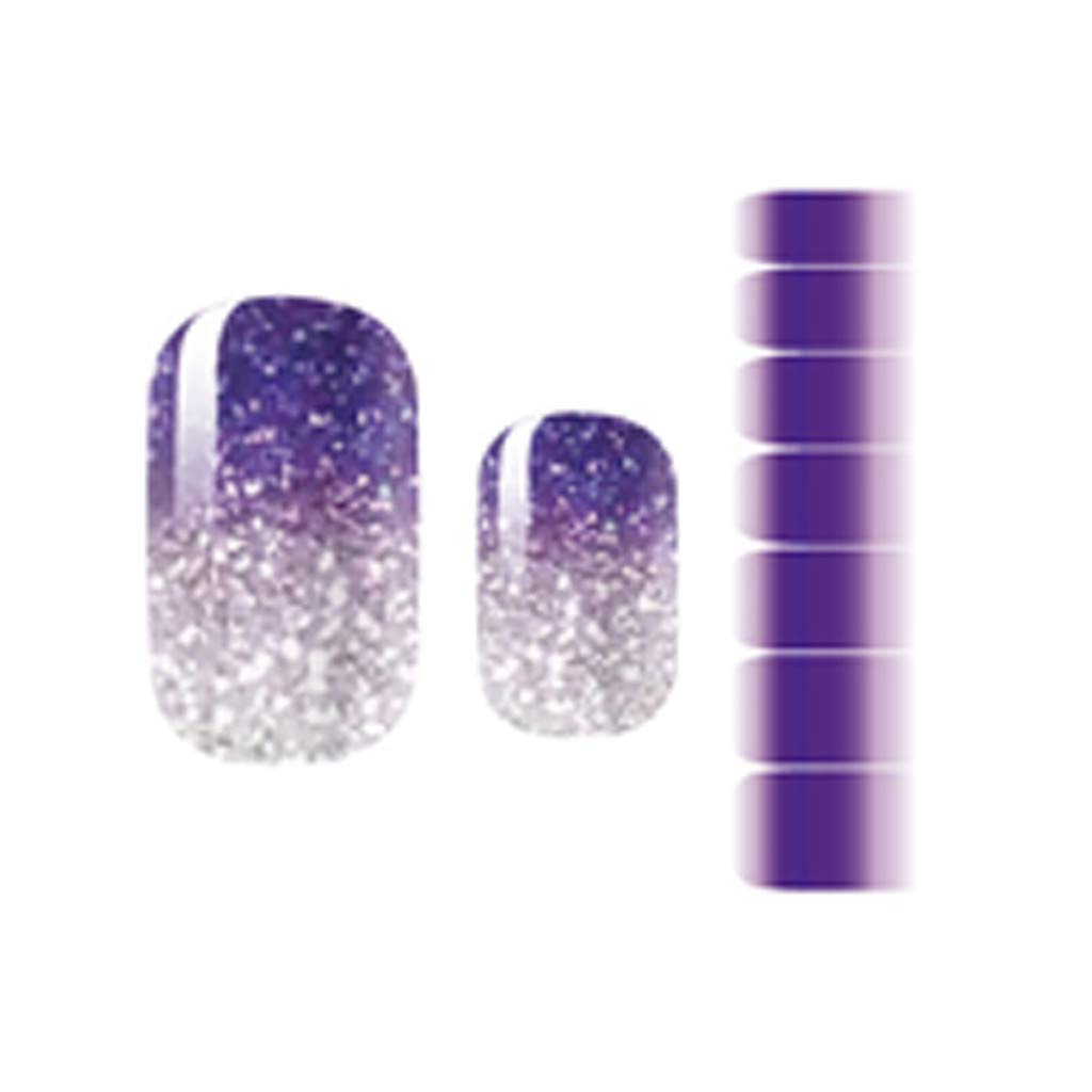 Halloween Nail Decals Sticker Pack Gradients Color DIY Beauty Glitter Nail Decals Powder Nail Stickers-Easy to Stick-Last Long (0.04inch, Style B)