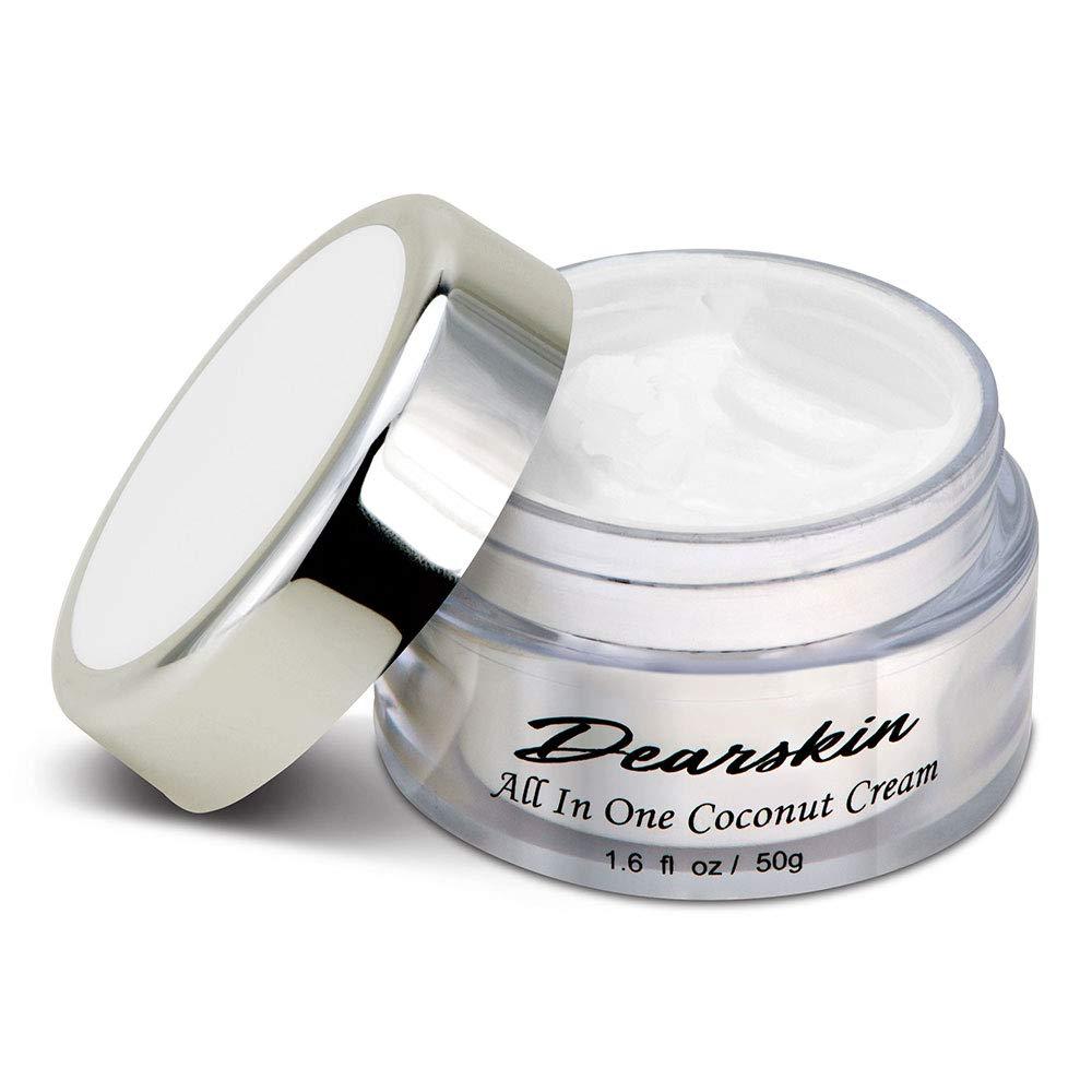 Whitening Face Moisturizer Anti-Wrinkle Coconut Cream Vegan Organic Cruelty Free Day and Night Moisturizing Skin Care Best Formulated with Hyaluronic Acid, Vitamin C, Kojic Acid, B Complex