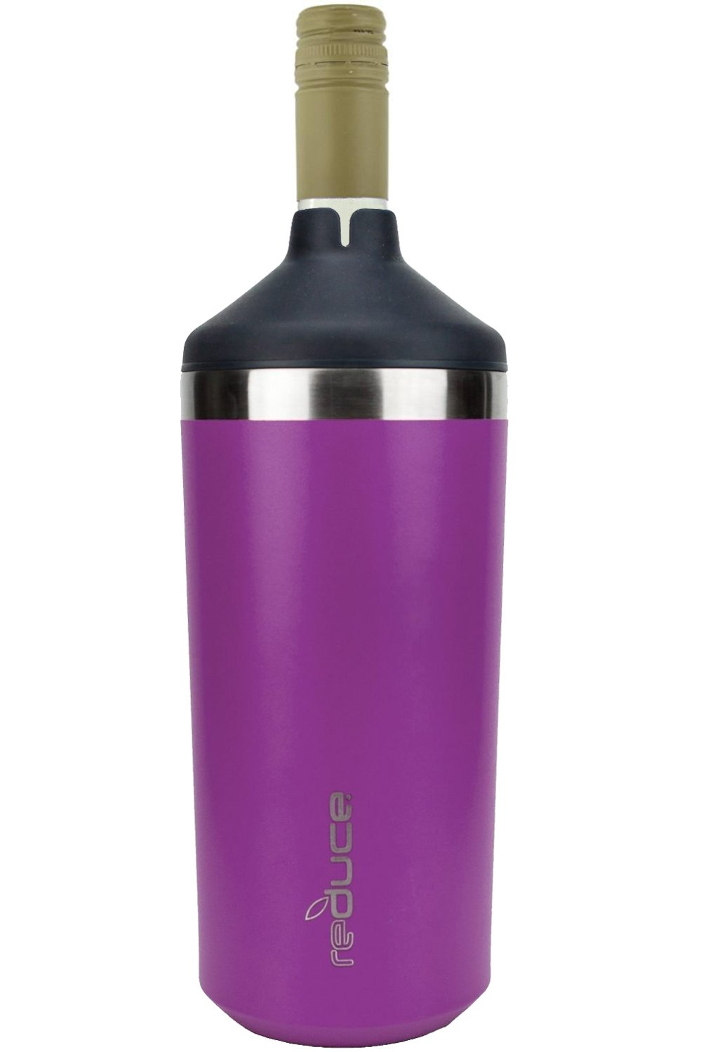 REDUCE Single Bottle Wine Chiller – Stainless Steel Wine Cooler Sleeve, Insulated Wine Chillers to Keep Wine at the Perfect Temperature, No Ice Required – An Ideal Gift, Fits Most Wine Bottles