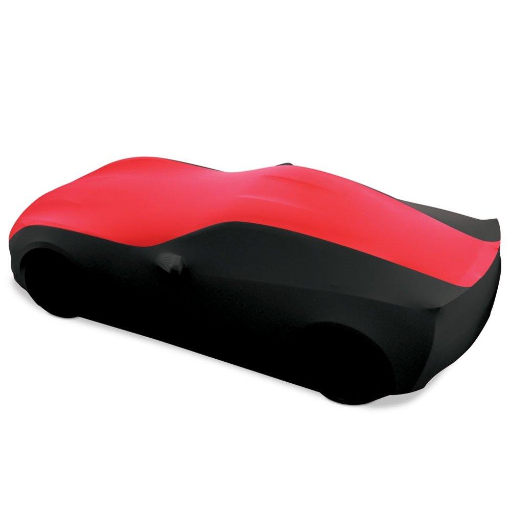 C7 Stingray, Z51, Z06, Grand Sport Corvette Ultraguard Stretch Satin Indoor Car Cover : Sport Series (Red/Black)