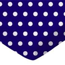 SheetWorld Fitted Portable / Mini Crib Sheet - Polka Dots Royal - Made In USA