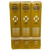 Gonesh Incense Sticks Extra Rich Collection: Coconut 12 Pack (20 Sticks/pack)