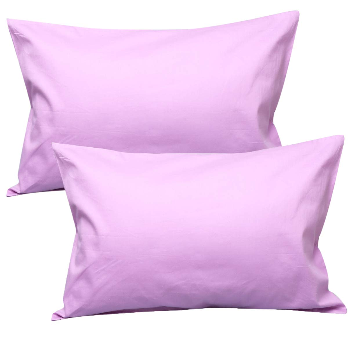 UOMNY Kid Pillowcases 2 Pack 100% Cotton Pillow Cover 14x20 Baby Pillow Cases for Sleeping Tiny Pillows case for Kids Solid Pillowcases Travel Pillowcases Toon Purple Kids' Pillowcases