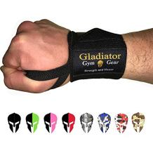 Weight Lifting Wrist Wraps with Thumb Loops - Wrist Support & Protection for Power Lifting Cross Training & Bodybuilding G3 Wrist Straps. Gladiator Gym Workout Gear for Men Women