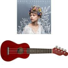 "Grace VanderWaal ""Just the Beginning"" and Fender Venice Soprano Natural Ukulele Bundle – Cherry Finish"