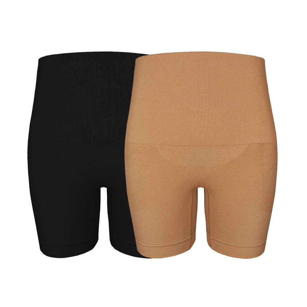 CableMax Shapewear Underwear Thongs Briefs Shorts 2 Pack Belly Support Butt Lift