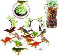 """Mini Dinosaur Toy Set, 35 Pieces 3"""" Plastic Assorted Dinosaur Figures as Cake Toppers for Birthday Party, Toys for Boys and Girls"""