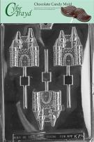 Cybrtrayd Life of the Party K072 Castle Thrones Lolly Chocolate Candy Mold in Sealed Protective Poly Bag Imprinted with Copyrighted Cybrtrayd Molding Instructions