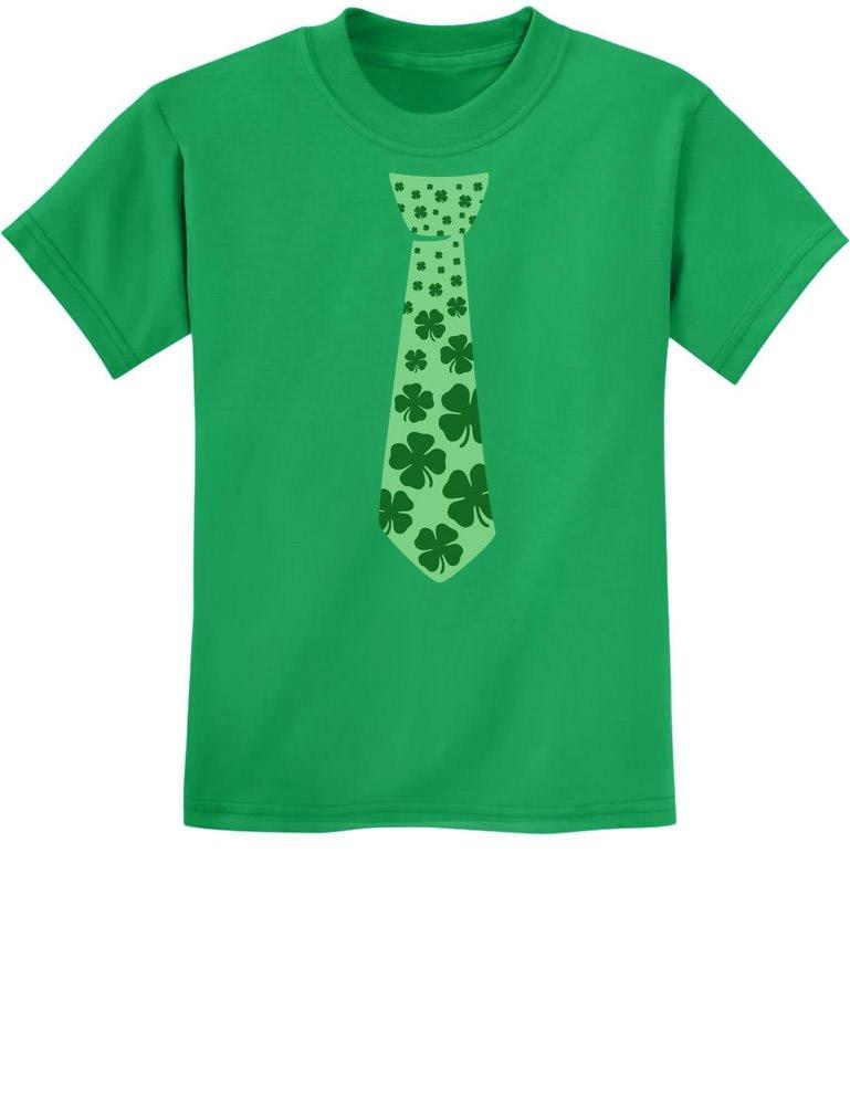 Tstars - Irish Clover Tie St. Patrick's Day Shamrock Cool Unisex Kids T-Shirt
