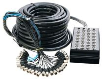 On-Stage In-Line Audio Series 24 x 4 XLR Snake Cable, 100 Feet