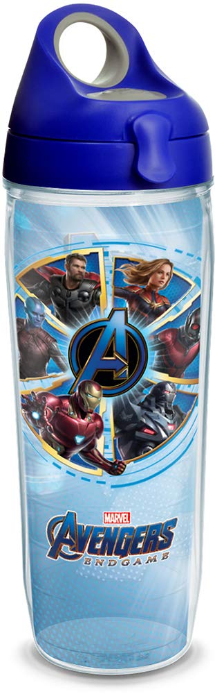 Tervis Marvel - Avengers 4 Endgame Insulated Travel Tumbler with Wrap & Lid, 24 oz Water Bottle - Tritan, Clear