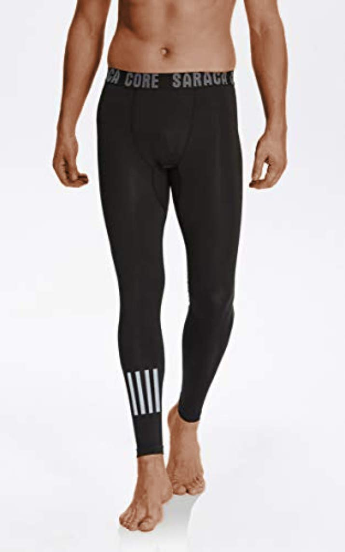 saraca core Men's Compression Pants Sports Baselayer Running Workout Active Tights Yoga Leggings UPF 50+