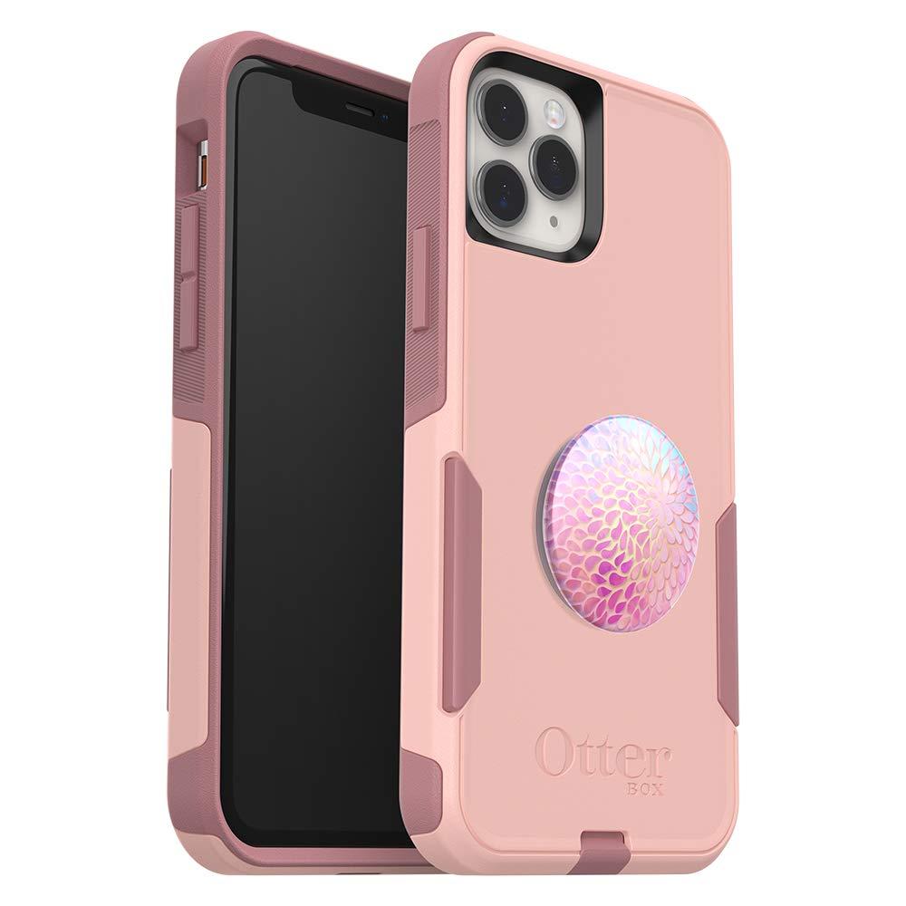 Bundle: OtterBox COMMUTER SERIES Case for iPhone 11 Pro - (BALLET WAY) + PopSockets PopGrip - (PETAL POWER), 78-52440,Pink