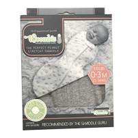 The Original Woombie Baby Swaddling Blanket I Soothing, Cotton Baby Swaddle I Wearable Baby Blanket, Nimbus Gray, 5-13 lbs