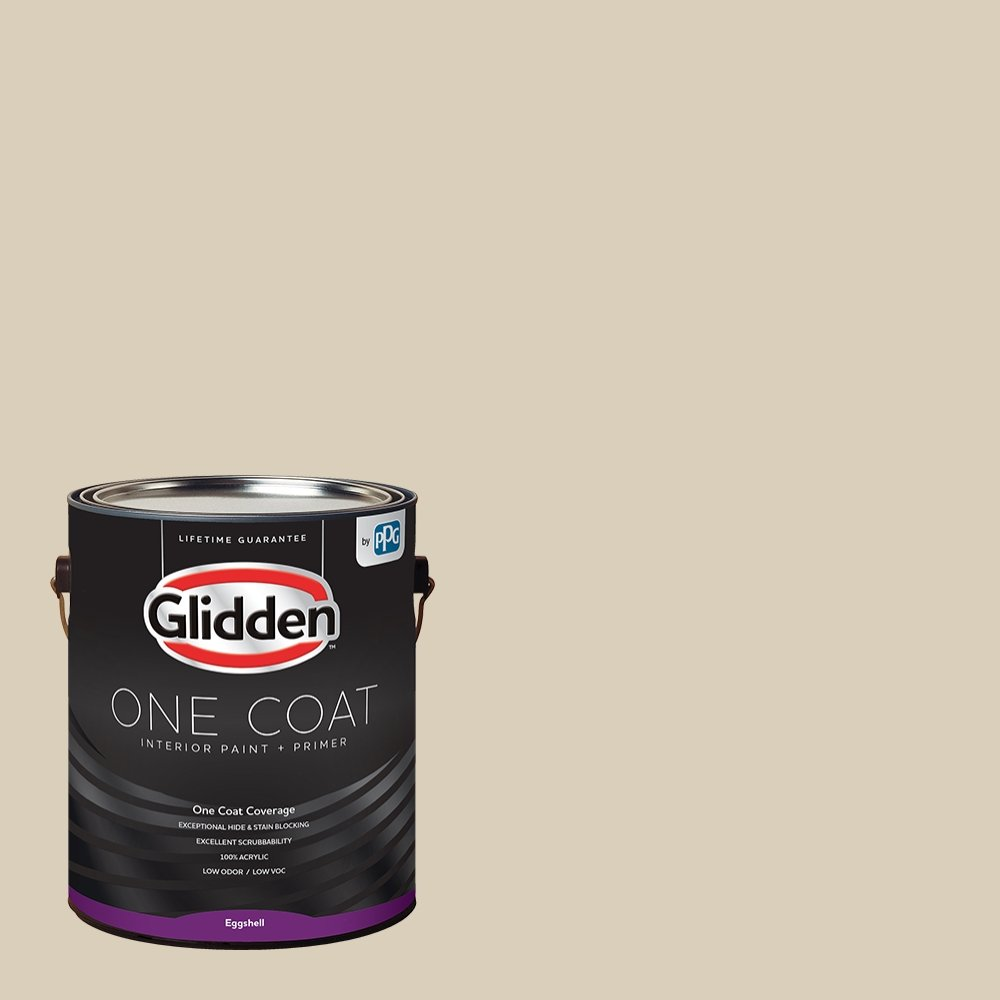 Glidden Interior Paint + Primer: Beige/Toasted Almond, One Coat, Eggshell, 1-Gallon