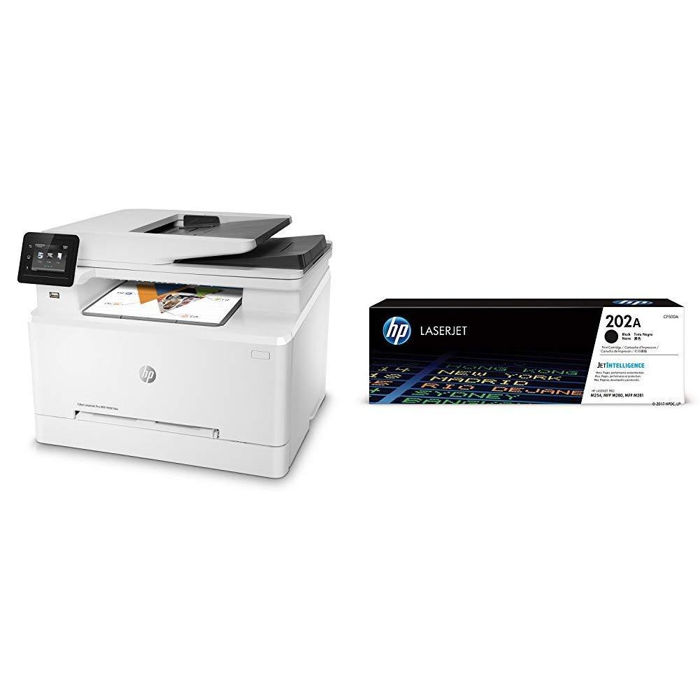 HP LaserJet Pro M281fdw All in One Wireless Color Laser Printer (T6B82A) with Standard Yield Black Toner Cartridge
