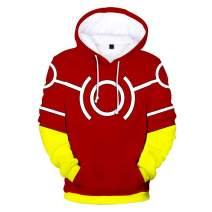 Memoryee 3D Hoodie Boku My Hero Academia Izuku Midoriya All Might Sweatshirt Cosplay Costume Unisex