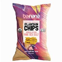 Barnana Organic Plantain Chips - Himalayan Pink Salt - 5 Ounce - Barnana Salty, Crunchy, Thick Sliced Snack - Best Chip For Your Everyday Life - Cooked in Premium Coconut Oil