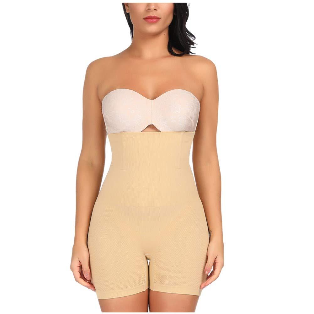 Sekluxy Women Shapewear Tummy Control High Waist Underwear Slimming Body Shaper Bodysuit