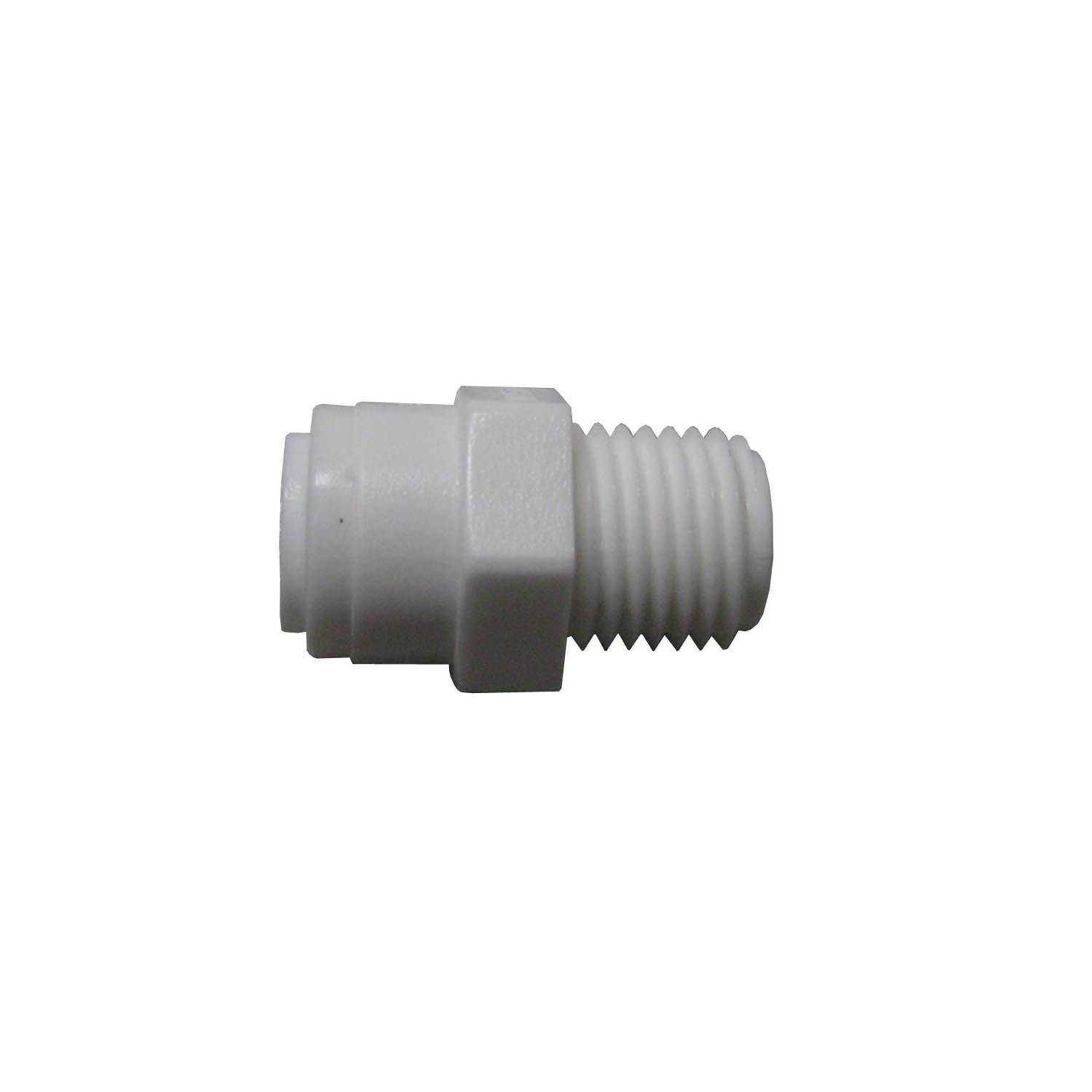 """WATTS PL-3007 Fit Tube to Pipe, 1/4"""" x 1/2"""" Push Male Adapter, 0.5 Inch MIP"""