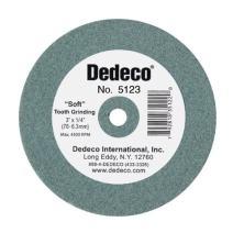 "Dedeco 5123 Green Lathe Wheel, 3"" x 3/8"""