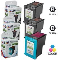 LD Remanufactured Ink Cartridge Replacements for HP 92 & HP 93 (2 Black, 1 Color, 3-Pack)