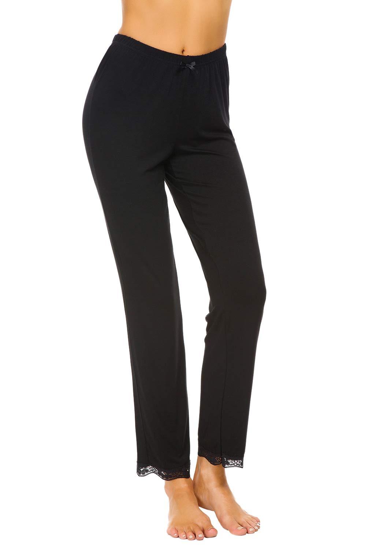 Alcea Rosea Sleep Pants for Women Pajamas Pants Casual Straight-Leg Loose Fit Workout Yoga Dailywear Pants S-XL
