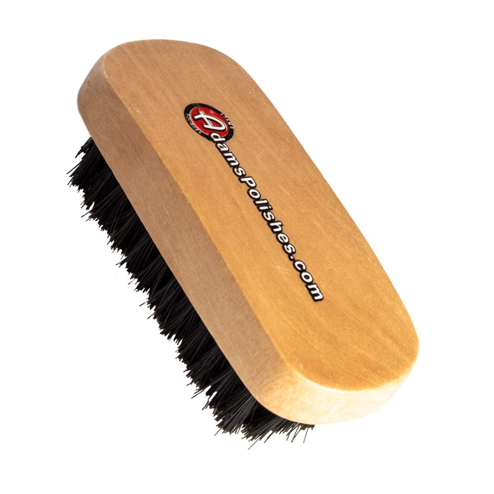 Adam's Cockpit Detailing Brush (Mini) - Car Cleaning Brush   Scrub Brush for Interior Leather Cleaner Carpet Upholstery Bathroom Fabric Shoe