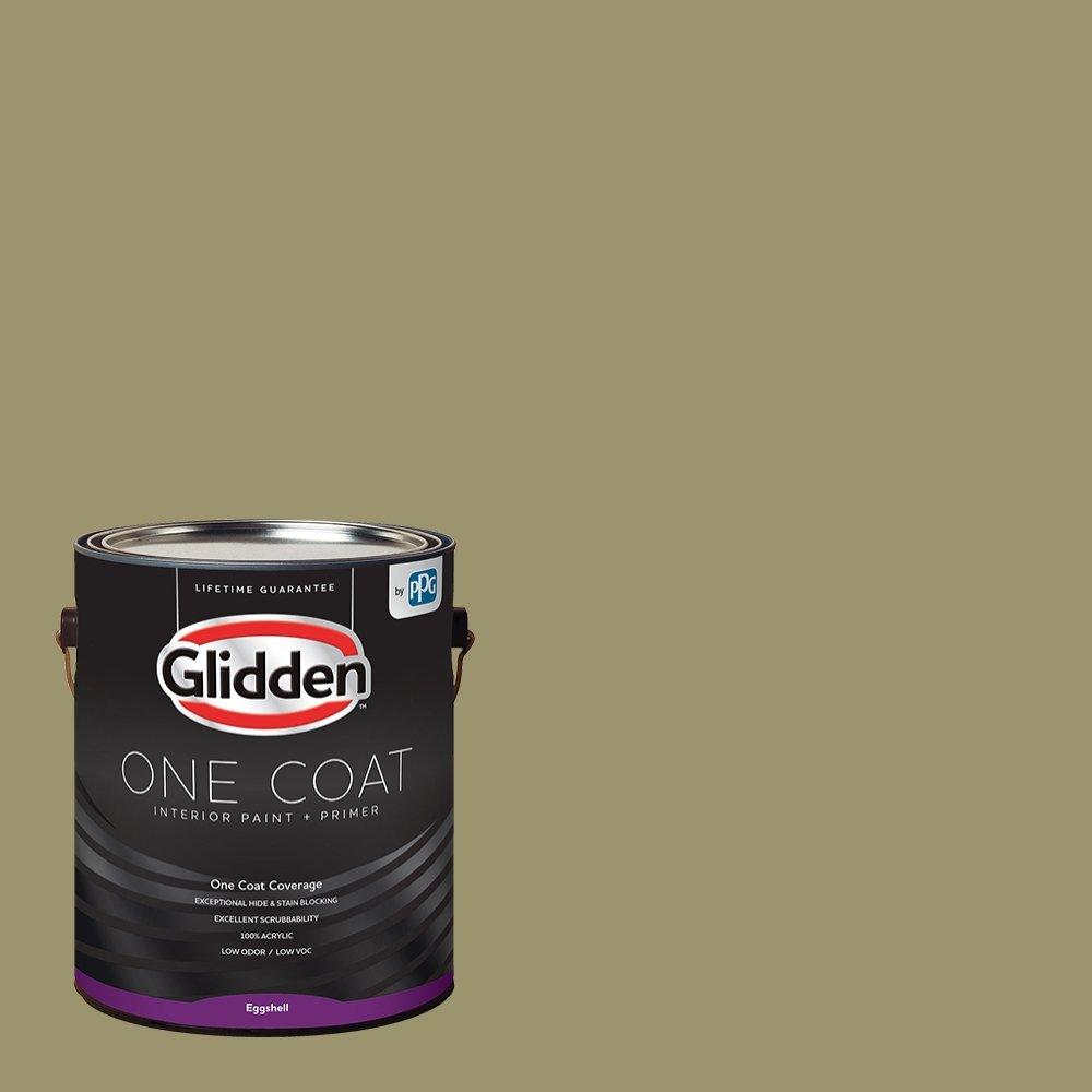 Glidden Interior Paint + Primer: Sage/Sweet Annie, One Coat, Eggshell, 1-Gallon