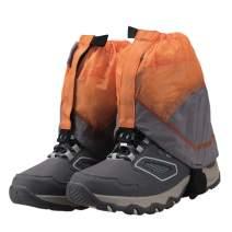 AMYIPO Lightweight Trail Gaiters Unisex Travel Snow Leg Low Gaiter for Hiking Walking Climbing Hunting Cycling, Men Women