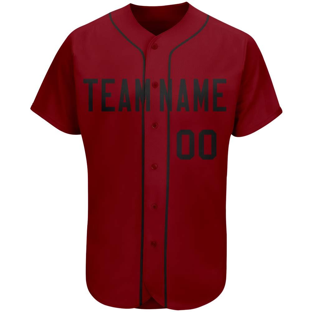Custom Crimson Red Baseball Jersey Full Button Full Sublimation Uniform Design Team Name & Numbers for Men